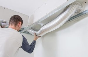 Man Working On HVAC